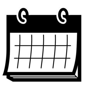 カレンダーのテキスト